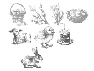 Photoshop Brushes - Vintage Easter