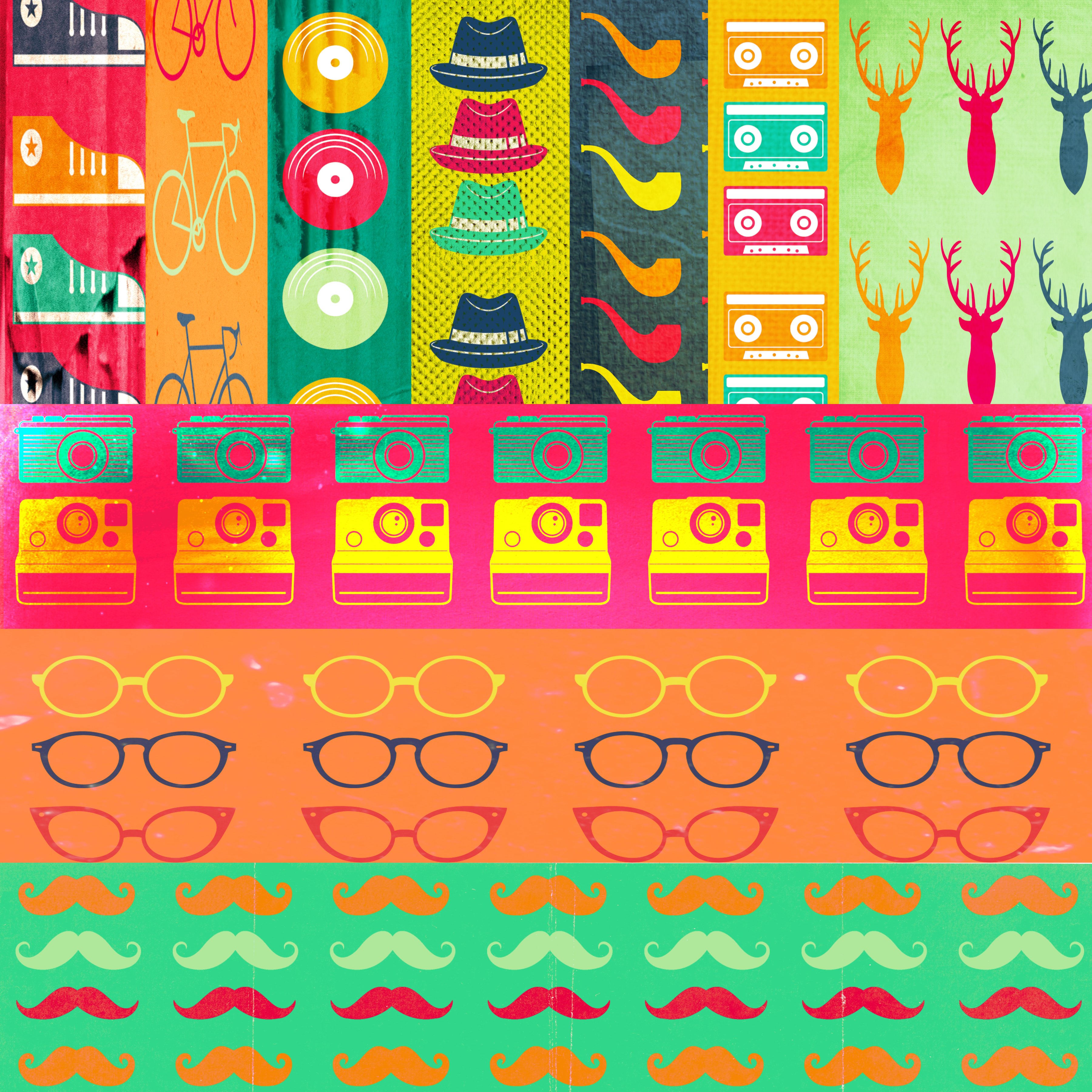 Free Scrapbook Papers Commercial Use Hipster Style Cu The