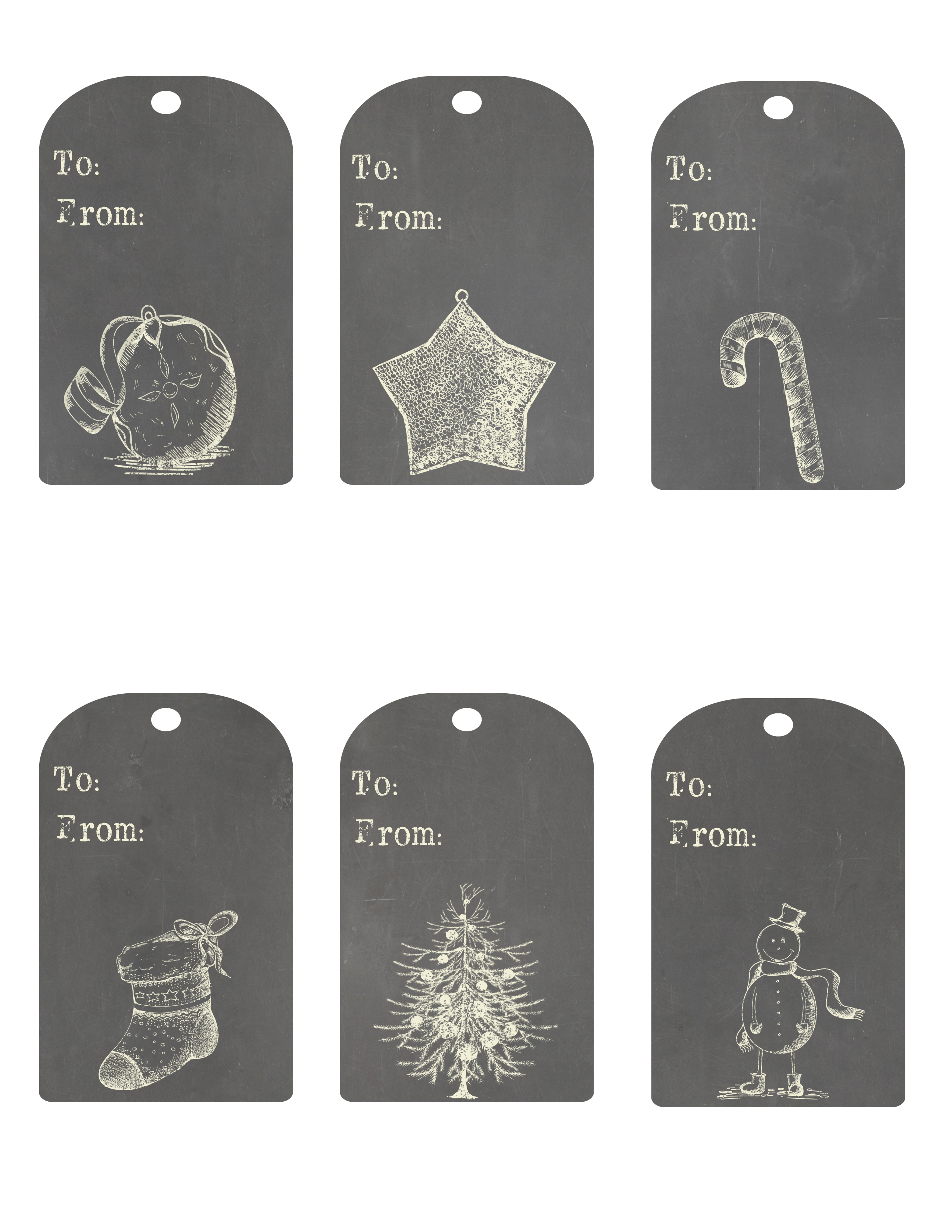 photograph about Free Printable Hang Tags known as Free of charge Printable Chalkboard Xmas Cling Tags - The