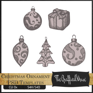 Christmas Ornament PSD Templates