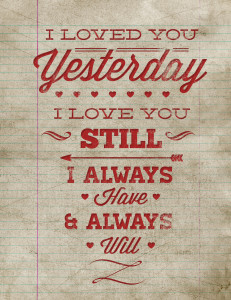 Free Printable Poster - Valentine's Day Wall Art