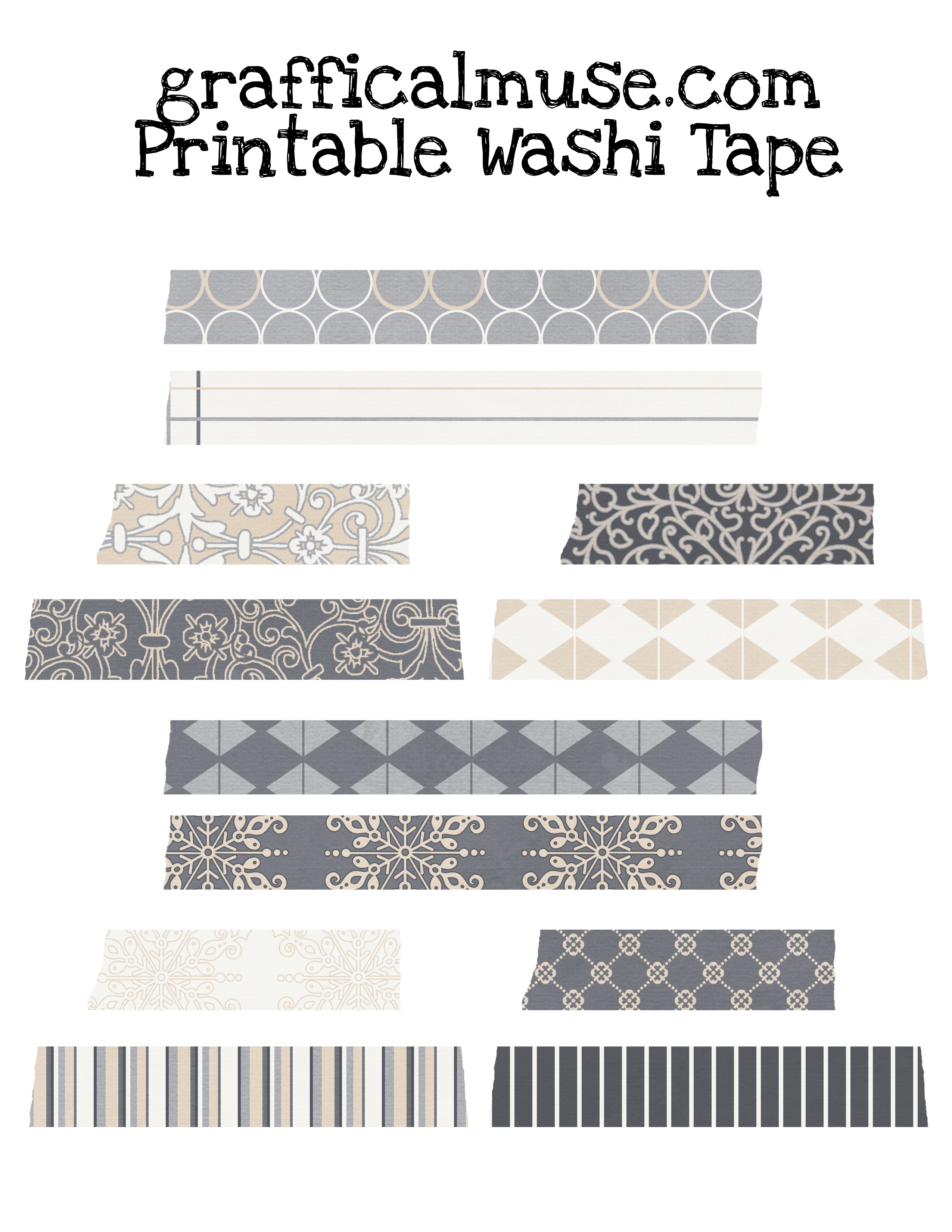 It's just a photo of Critical Printable Washi Tape