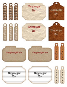 Free Printable Handmade Tags and Labels