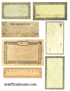 Free Vintage Labels Collage Sheet
