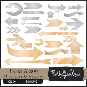 Free Photoshop Brushes and Digital Stamps - Paper Arrows