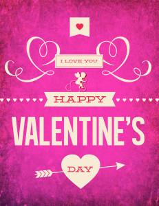 Free Printable Poster - Valentine's Day Typography