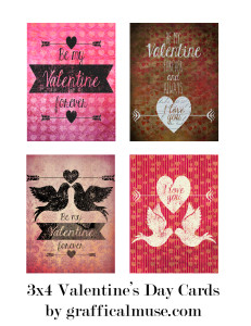 Free Project Life Printables - Valentine's Day Cards