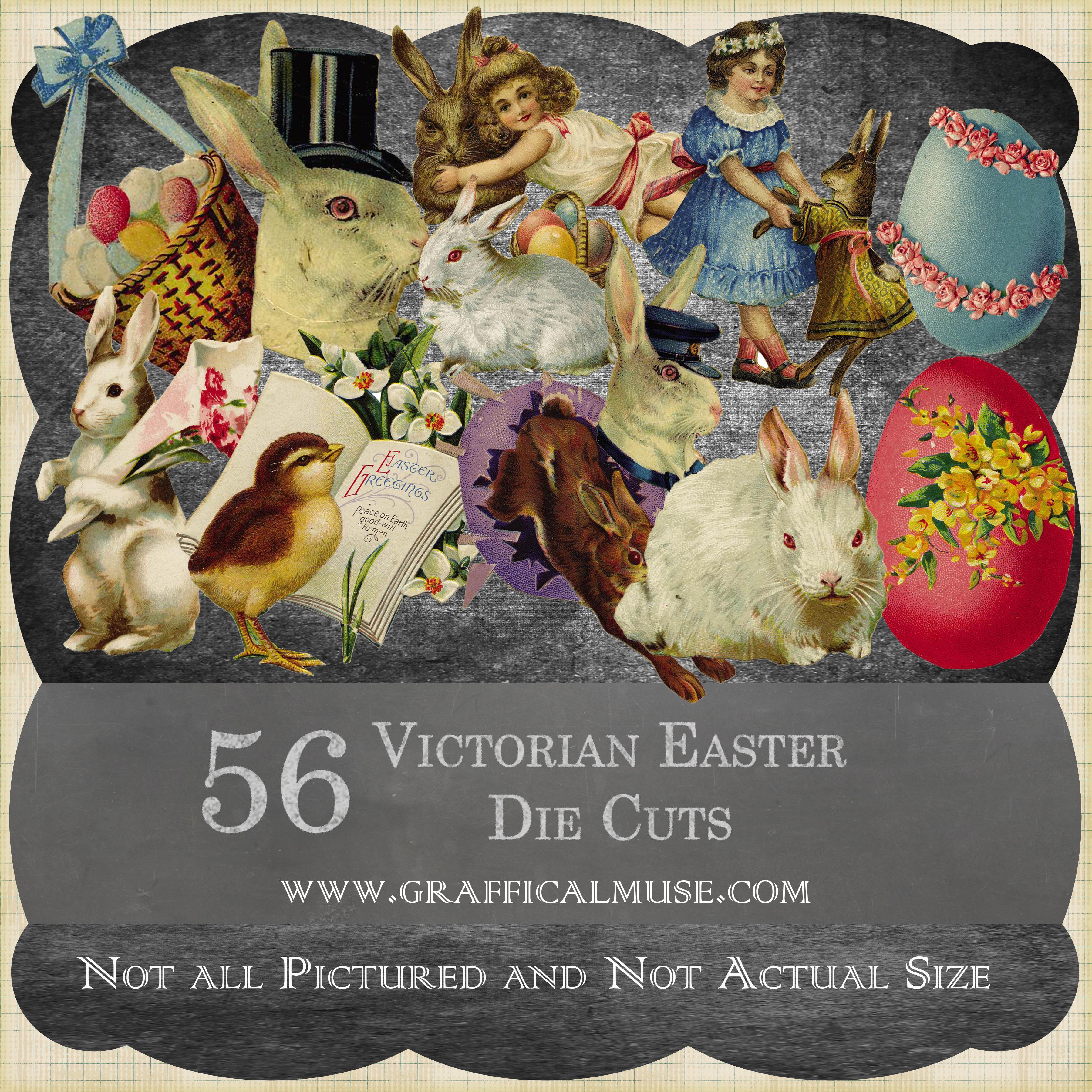 Set of 56 Victorian Easter Die Cut Cards Download full Set The – Victorian Easter Cards