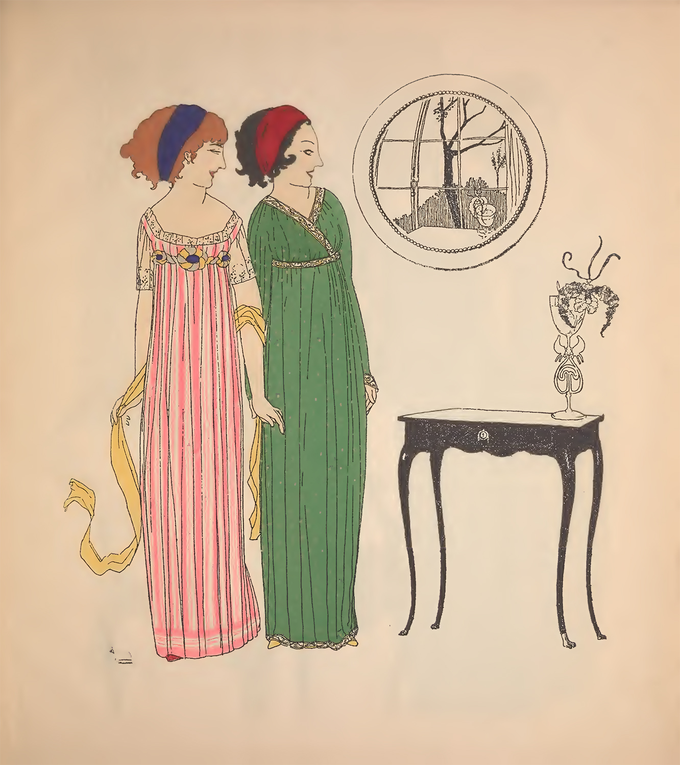 Art deco illustrations fashion the graffical muse for Art deco trend