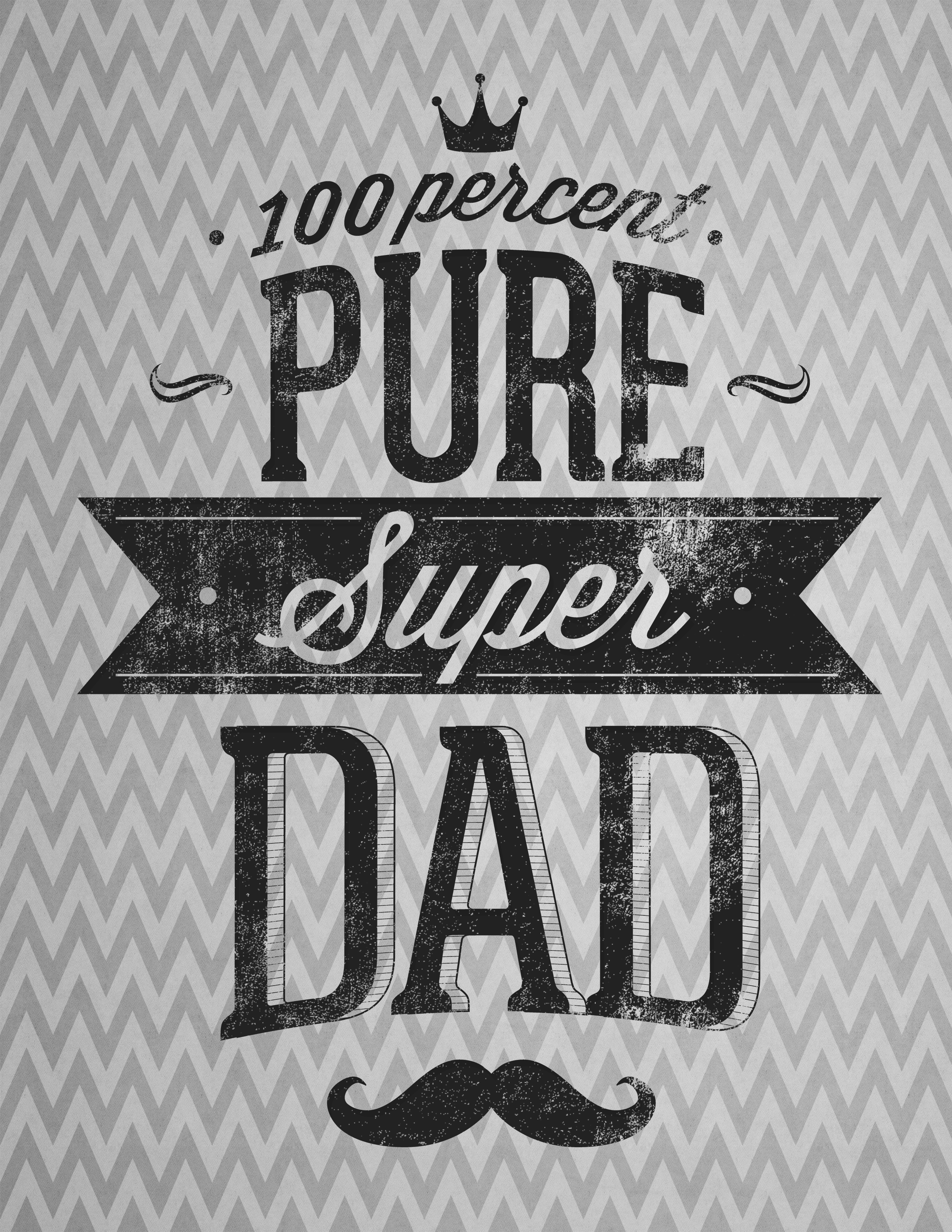 Free Printable Poster for Father's Day - The Graffical Muse