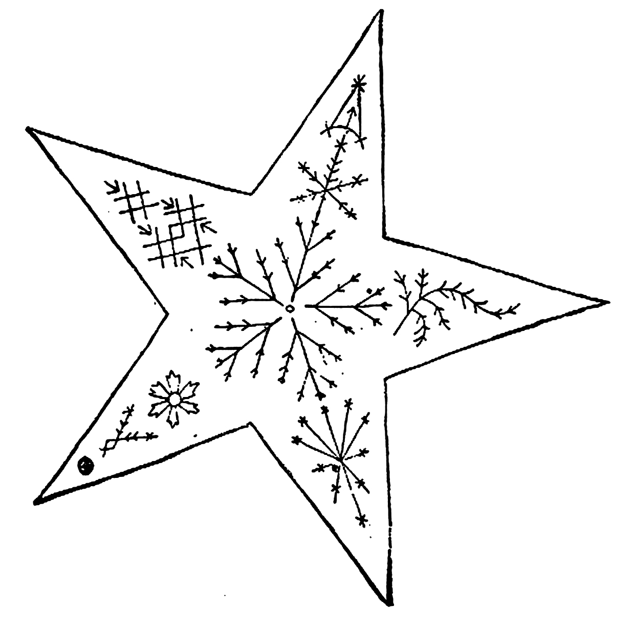 Vintage Embroidery Pattern Star The Graffical Muse
