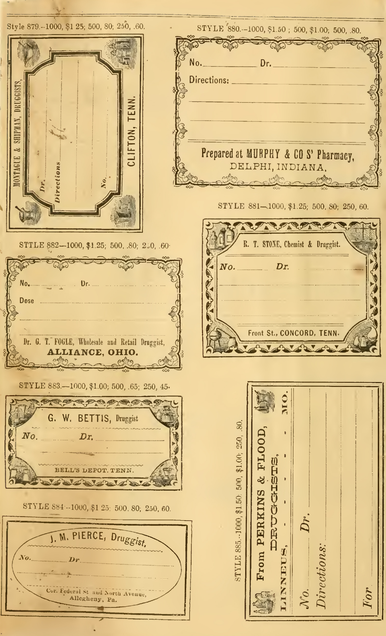 vintage pharmacy labels archives