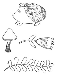 Free embroidery pattern - woodland hedgehog