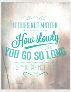 Free Printable Typographic Poster - Motivational