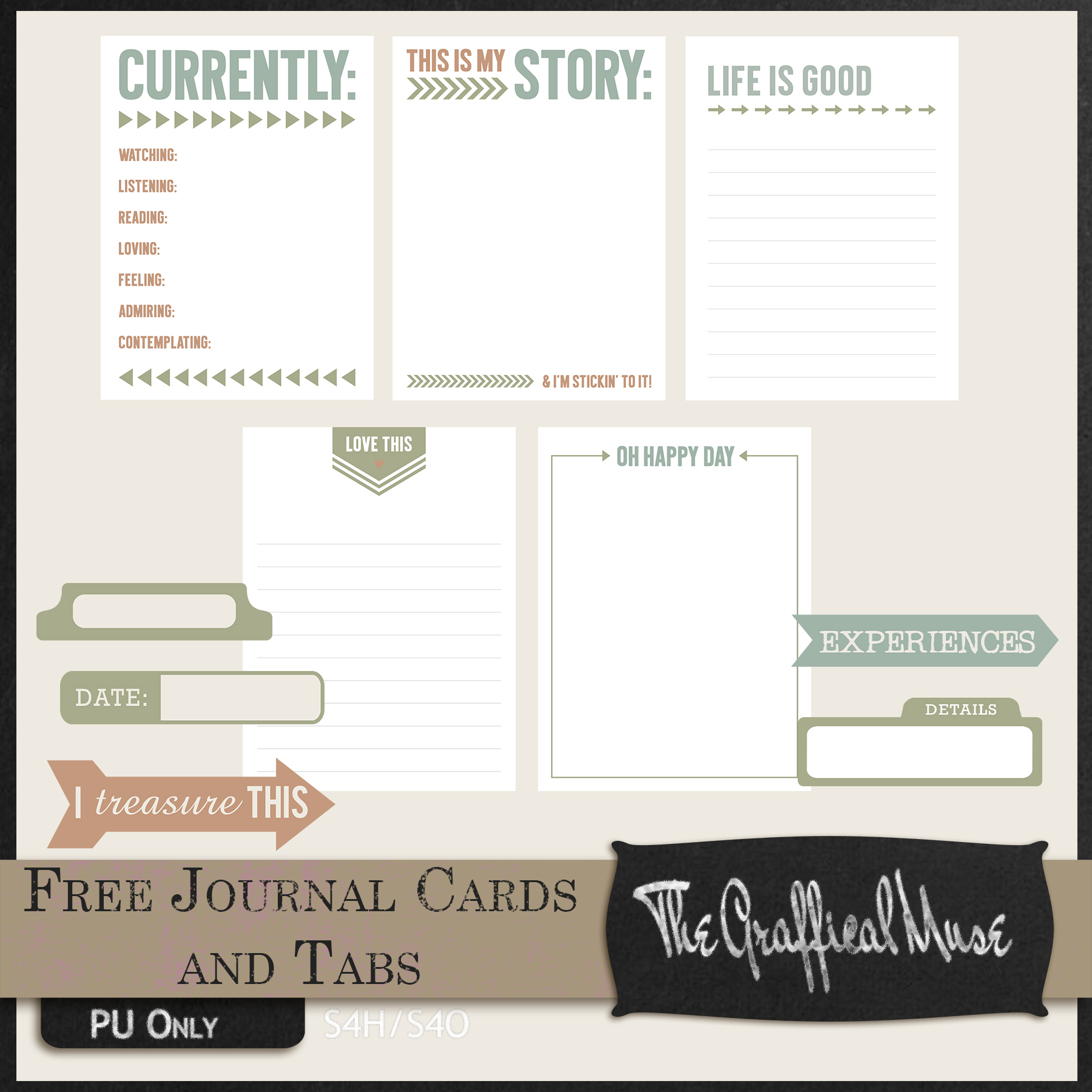 photo relating to Free Printable Journaling Cards called Journaling Card Archives - The Graffical Muse