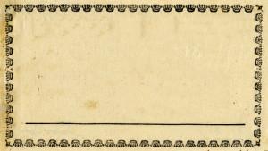 Vintage Blank Label