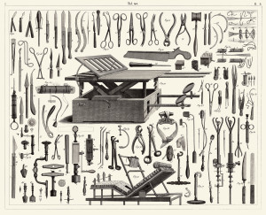 Vintage Illustration - Antique Surgical Instruments