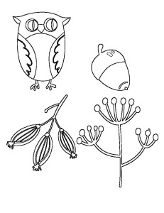 Free Embroidery Pattern, Woodland Owl