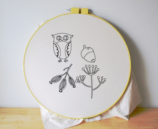 Free Embroidery Pattern Woodland Owl