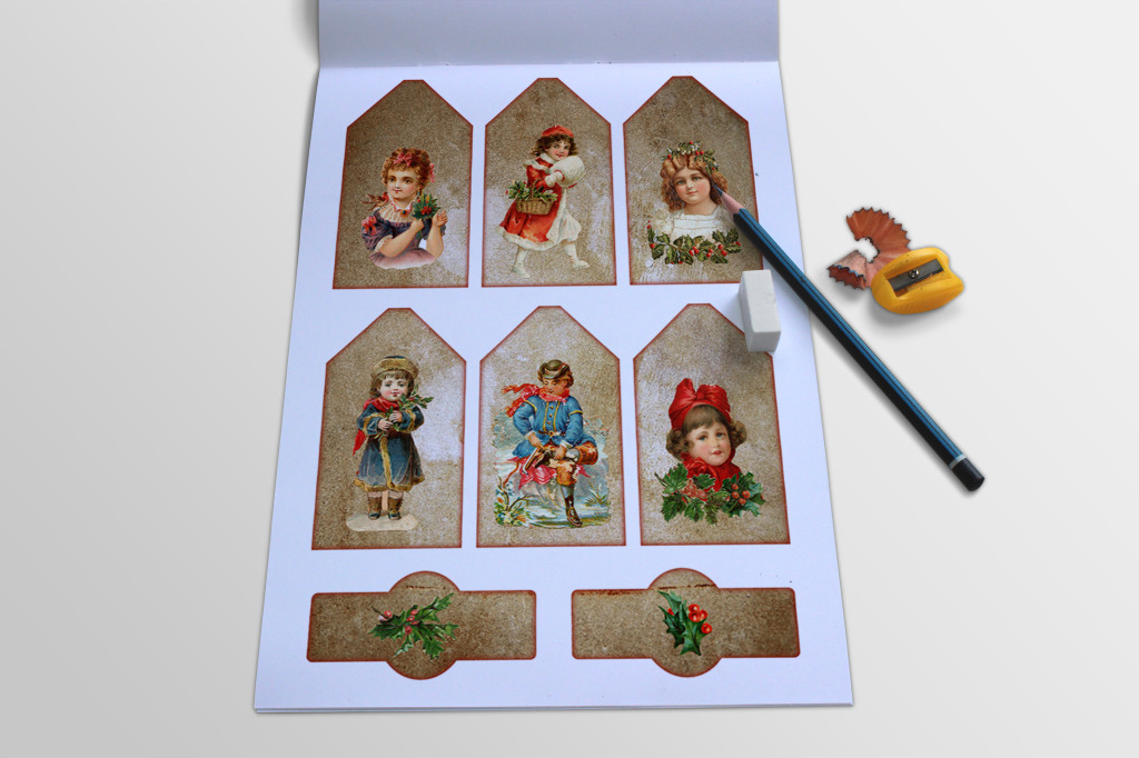 Free Printable Vintage Christmas Tags and Labels