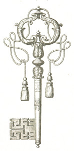 Free Vintage Illustration Clip Art Victorian Key