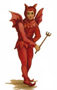 Vintage Clip Art Devil