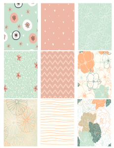 Free Printable ATC Background Collage Sheet
