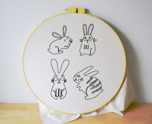 Free Embroidery Patterns - Cute Bunnies