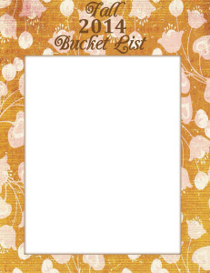 Free Printable Fall Bucket List - Blank