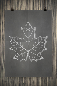 Free Printable Fall Leaf Wall Art Poster