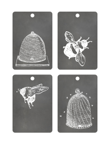 Free Printable Tags - Chalkboard Bees and Hives