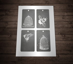 Free Printable Tags Chalkboard Bee Hives