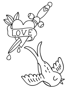 Free Embroidery Patterns Tattoo Printable