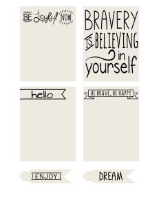 Free Printable Journaling Cards