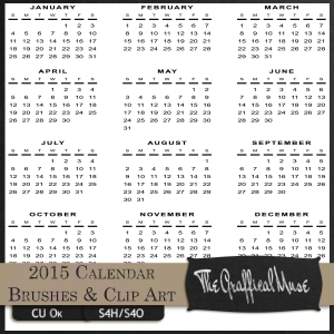 2015 Calendar Free Photoshop Brushes & PNG Clip Art  Pack2015 Calendar Free Photoshop Brushes & PNG Clip Art  Pack