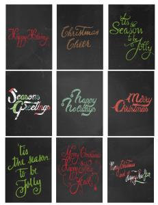 Christmas Chalkboard Gift Tags, Free Printable