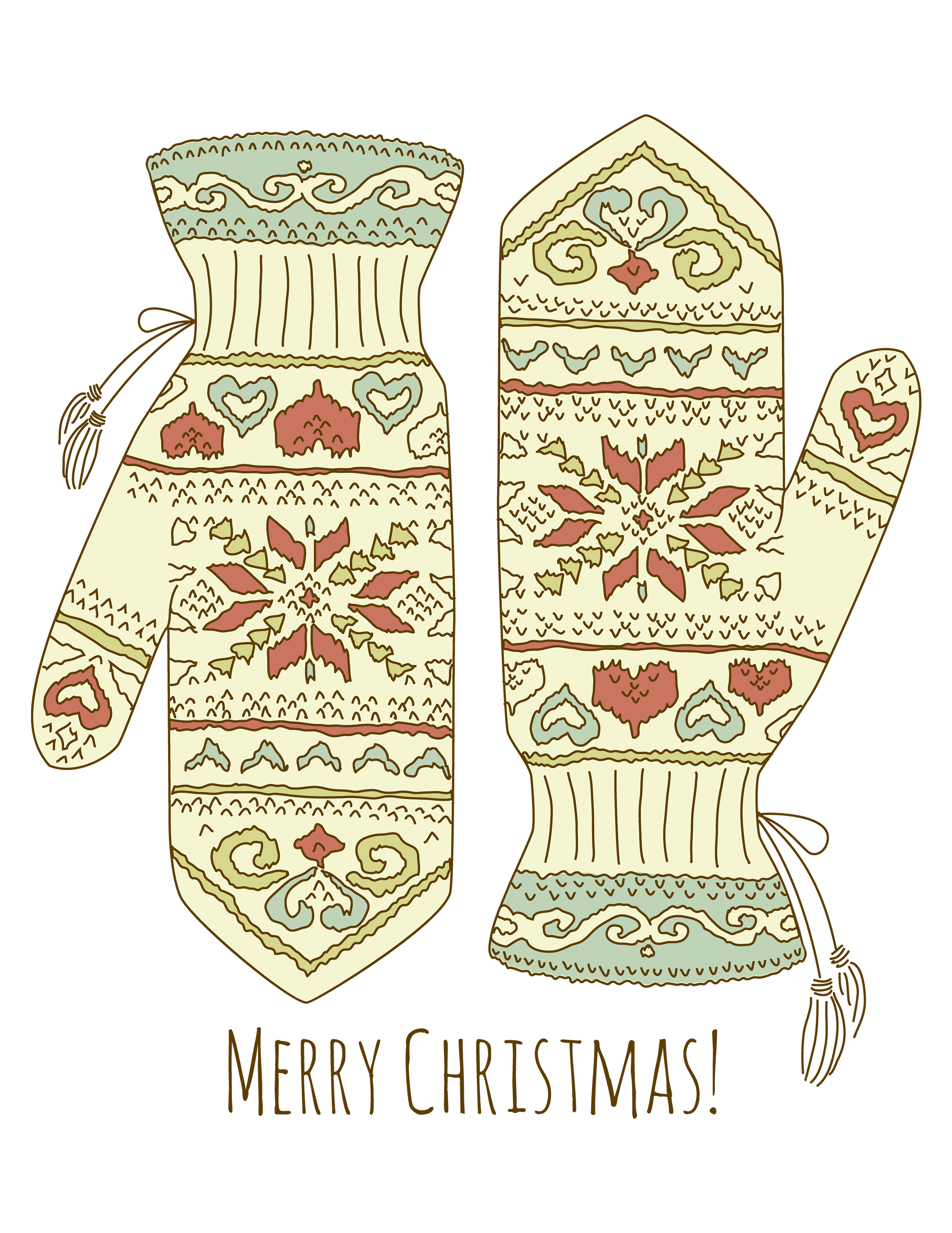 photograph about Free Printable Christmas Art referred to as No cost Printable Xmas Mittens Wall Artwork - The Graffical Muse