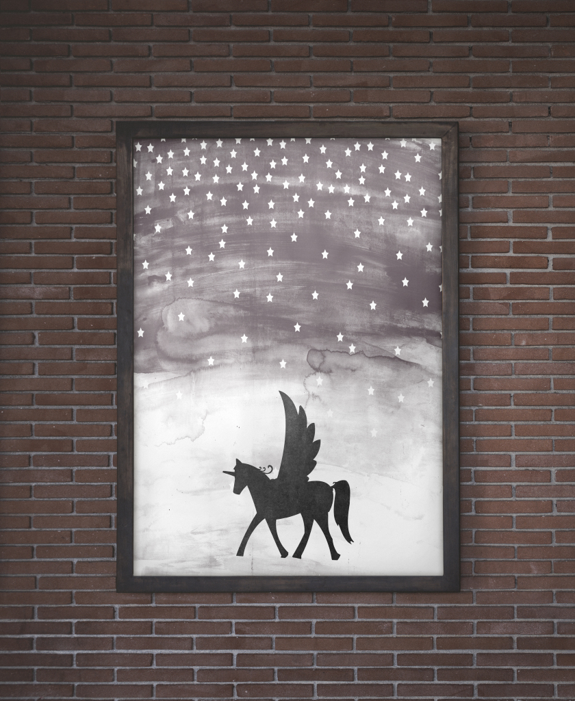 Free Printable Unicorn Wall Art