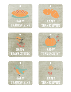 Happy thanksgiving free printable tags