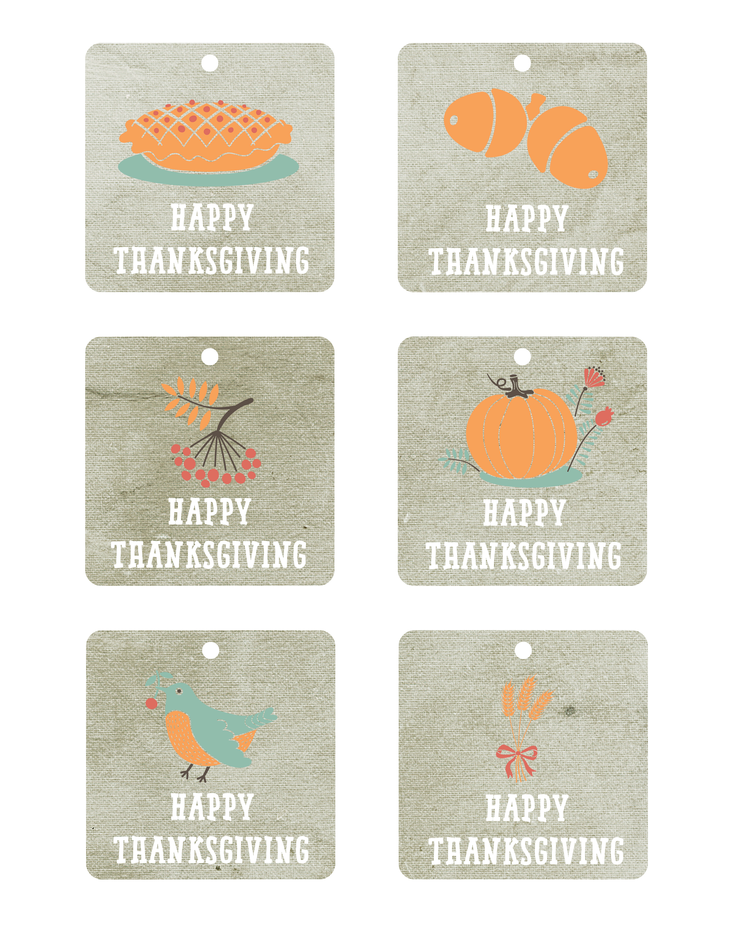 photograph regarding Free Printable Thanksgiving Tags called Satisfied Thanksgiving No cost Printable Tags - The Graffical Muse
