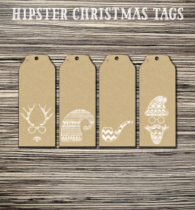 Hipster Christmas Tags - Free Printable