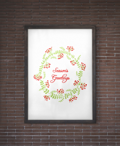 Seasons Greetings Christmas Wall Art Free Printable