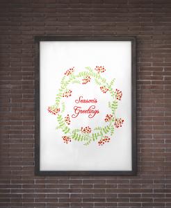 Seasons Greetings Christmas Wall Art Free Printable