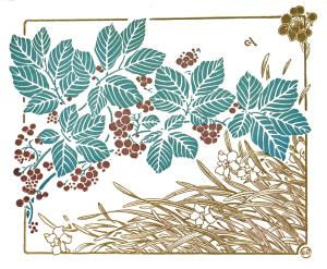 Vintage Art Nouveau Ornamental Pattern Print