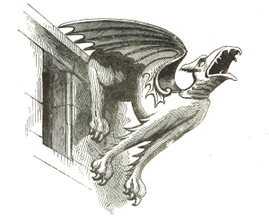 Vintage Gargoyle Illustration