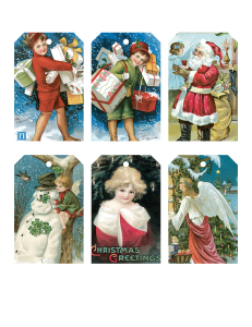 Vintage Printable Christmas Card Tags