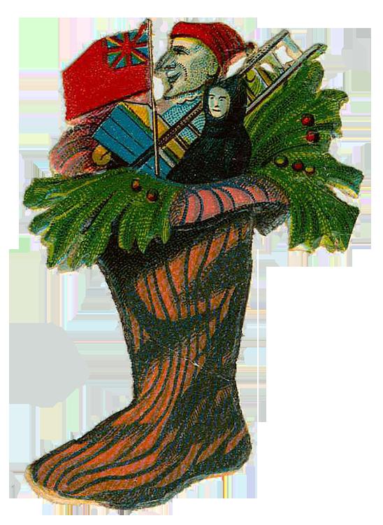 Vintage Victorian Christmas Die Cut Clip Art Day Six