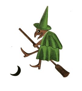 Vintage Witch Illustration