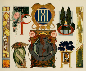 Art nouveau Ornamental Lettering