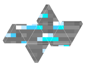 Free Printable Minecraft Ornament - Diamond